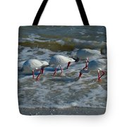 Synchronized Beach Combing Tote Bag