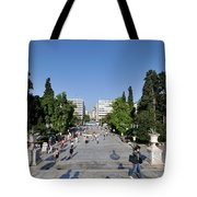 Syntagma Square In Athens Tote Bag
