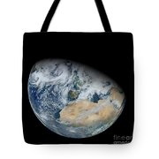 Synthesized View Of Earth Showing North Tote Bag