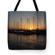 Syracuse Harbor Sunset Tote Bag