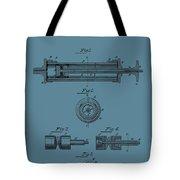 Syringe Patent Drawing Blue Tote Bag