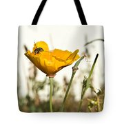 Syrphid Fly And Poppy 2 Tote Bag
