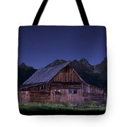 T. A. Moulton Homestead Barn At Night Tote Bag