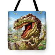 T-rex And Dinosaurs Tote Bag