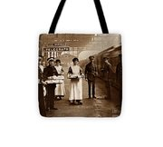 The Red Cross And St. John's Ambulance Brigade During Ww1 England Tote Bag by The Keasbury-Gordon Photograph Archive