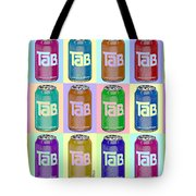 Tab Ode To Andy Warhol Repeat Horizontal Tote Bag