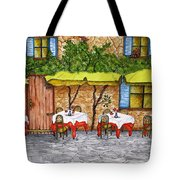 Table For Three Tote Bag