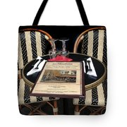 Table For Two In Paris Tote Bag