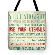 Table Manners Tote Bag