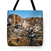Table Mountain In Winter 42 Tote Bag