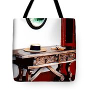 Table With Hat And Book Tote Bag