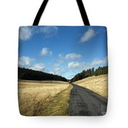 Tableland With Road Tote Bag