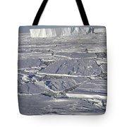 Tabular Icebergs Among Broken Fast Ice Tote Bag