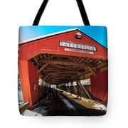 Taftsville Covered Bridge In Vermont In Winter Tote Bag