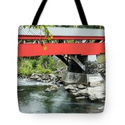 Taftsville Covered Bridge Vermont Tote Bag by Edward Fielding