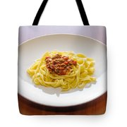 Tagliatelle Bolognese Sauce Tote Bag