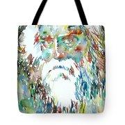 Tagore Watercolor Portrait Tote Bag