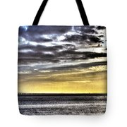 Big Clouds Over Tagus River Tote Bag