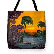 Tahitian Sunset Tote Bag