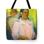 Tahitian Woman And Boy Tote Bag
