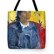 Tahitian Woman With A Flower Tote Bag