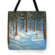 Tahoe Forest In Winter Tote Bag