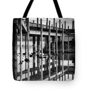 Tahoe Pier Reflection Tote Bag