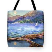 Tahoe Tides Tote Bag by Jen Norton