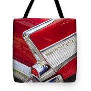 Tail Fins Are In 1957 Chevy Tote Bag