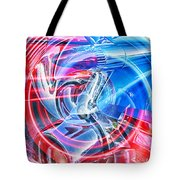 Tail Light Abstract Tote Bag
