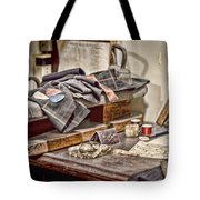 Tailors Work Bench Tote Bag