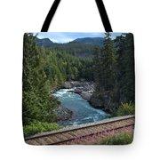 Train Tracks By The Cheakamus River Tote Bag