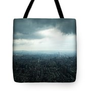 Taipei Under Heavy Clouds Tote Bag