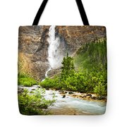 Takakkaw Falls Waterfall In Yoho National Park Canada Tote Bag