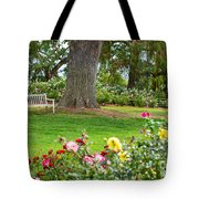 Take A Seat - Beautiful Rose Garden Of The Huntington Library. Tote Bag