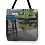 Take A Seat And Wait Ill Be Right With You Black And White Tote Bag