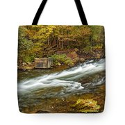 Take Me To The Other Side Beaver's Bend Broken Bow Lake Flowing River Fall Foliage Tote Bag
