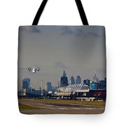 Take Off From London Tote Bag