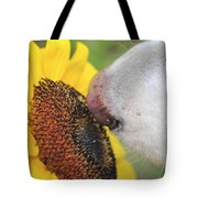 Take Time To Smell The Sunflowers Tote Bag