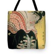 Takigawa From The Tea House Ogi Tote Bag