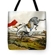 Taking A Tumble From Qualified Horses And Unqualified Riders Tote Bag