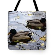 Taking Opposite Directions Tote Bag