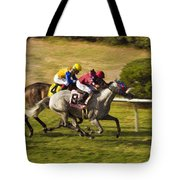 Taking Over - Del Mar Horse Race Tote Bag