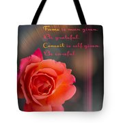 Talent Fame And Conceit Tote Bag