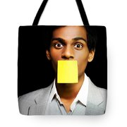 Talkative Forgetful Office Worker Tote Bag