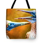 Talking Birds Tote Bag