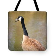 Talking Goose Tote Bag