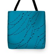 Tall Blue Abstract Tote Bag