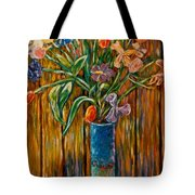 Tall Blue Vase Tote Bag