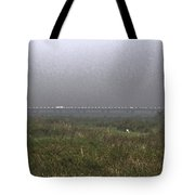 Tall Grass And View Of Bridge Tote Bag